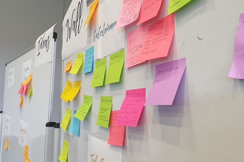 Ideas Wall at the 2019 ShowSkills Workshop in Wagga Wagga